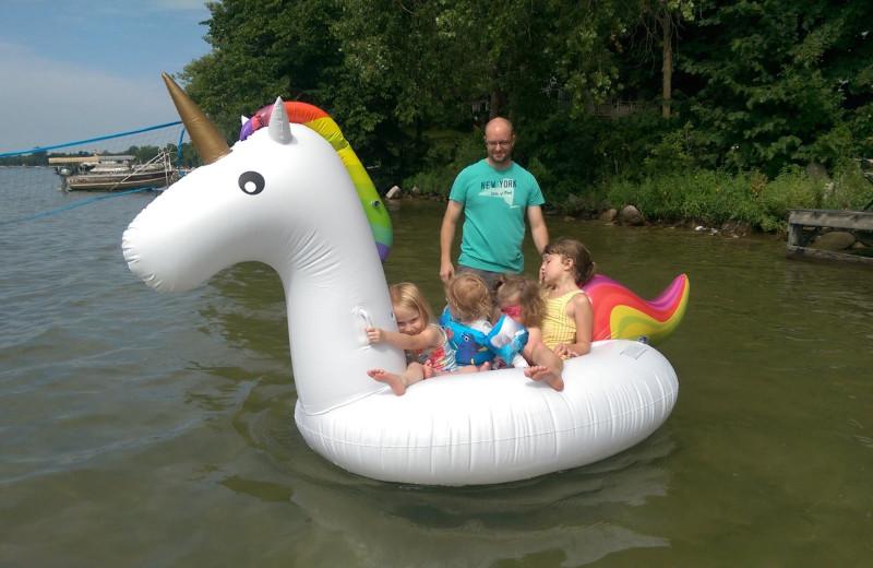 Floatie at Woodlawn Resort.