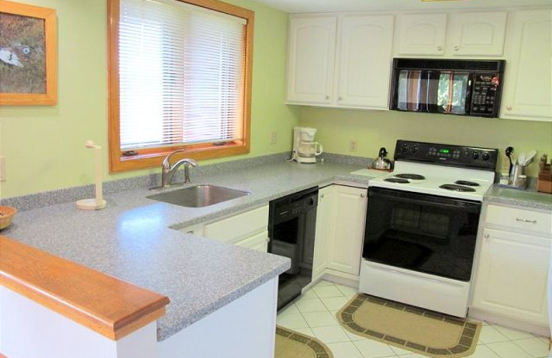 Kitchen view at Highridge Condominiums.