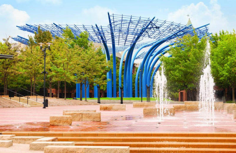 Fountain near Radisson Hotel Dallas North Addison.