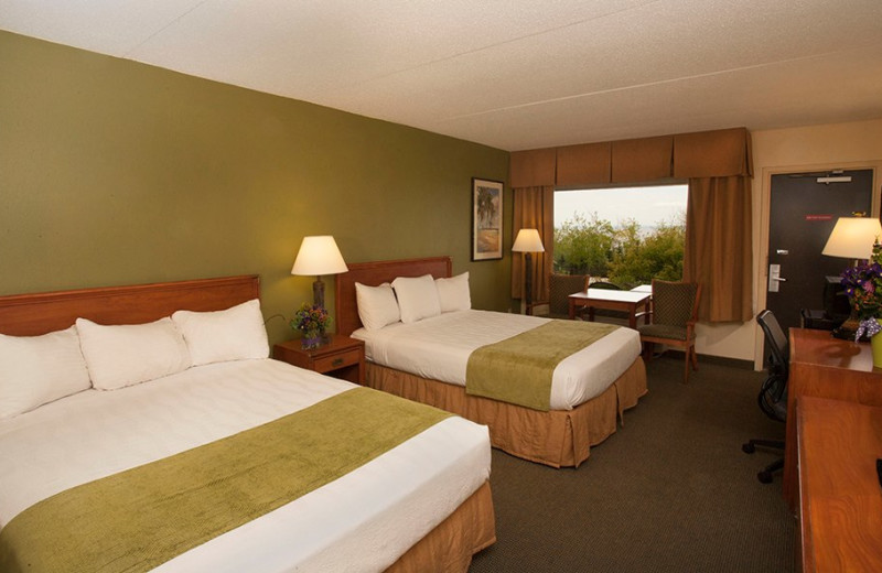 Two bed guest room at EdgeWater Resort and Waterpark.