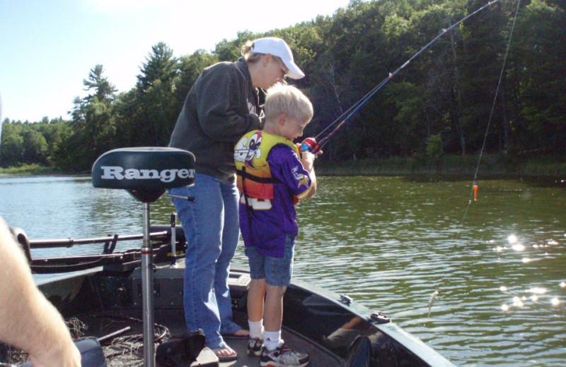 Fishing at Bay View Lodge.
