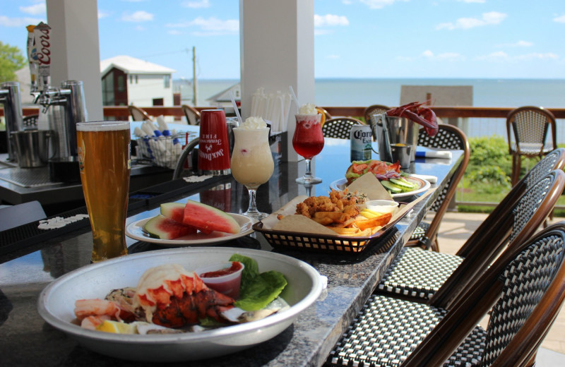 Dining at Waters Edge Resort and Spa.