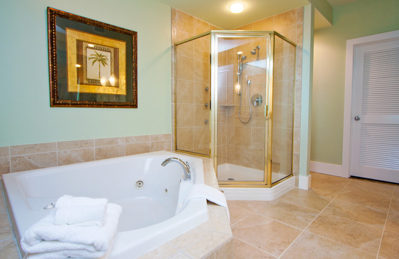 Guest bathroom at Caribe Resort.