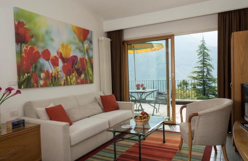 Guest room at Parco San Marco at lake Lugano in Italy.
