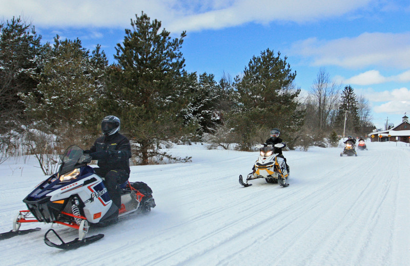 Snowmobiling at Trout Creek Vacation Condominiums.