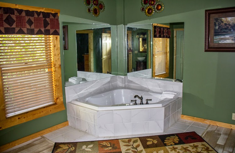 Cabin jacuzzi at Mountain Shadows Resort.