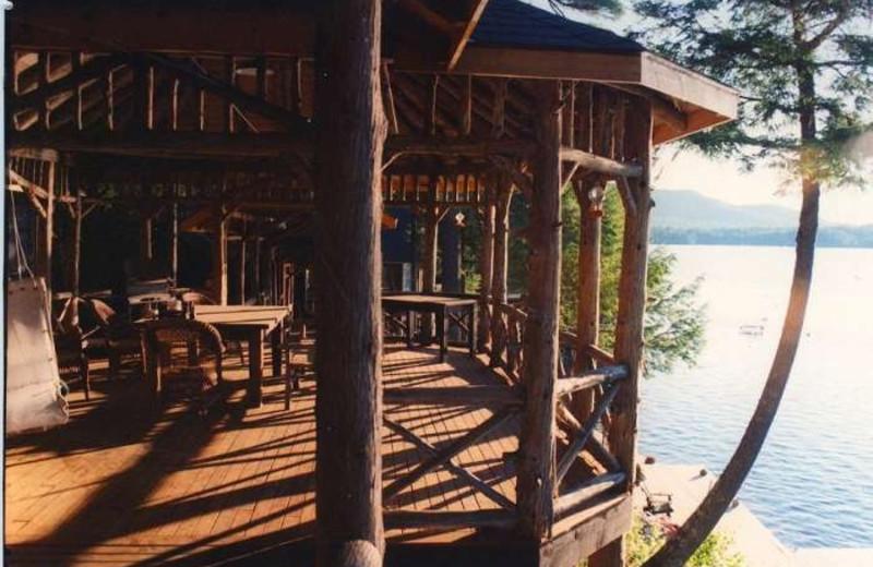 Lake view rental at Lake Placid Vacation Homes.