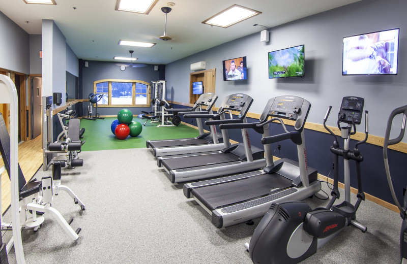 Fitness room at Golden Arrow Lakeside Resort.