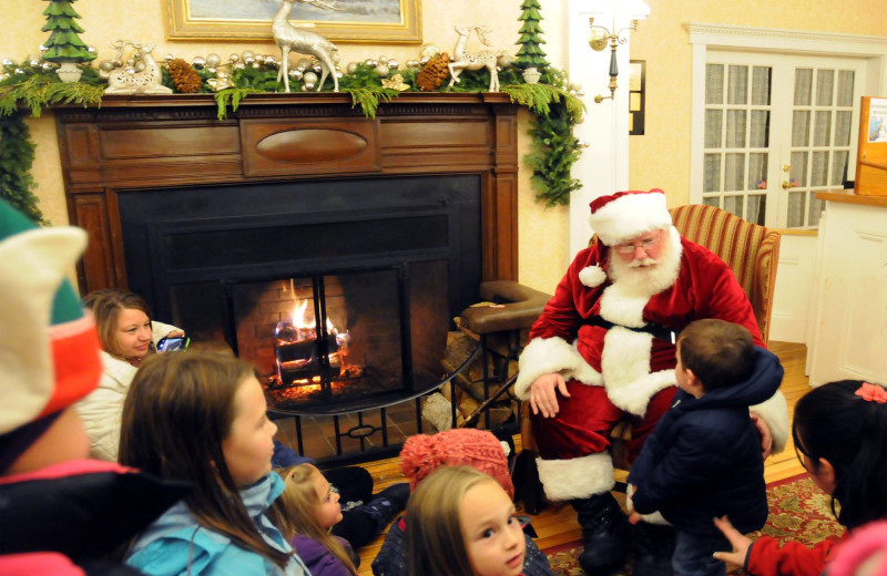 Santa visiting Eastern Slope Inn Resort.