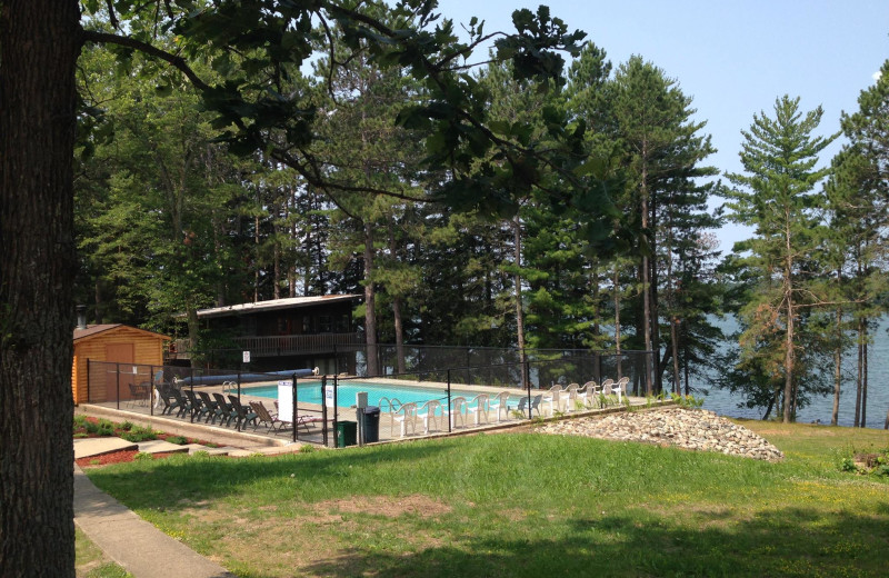 Outdoor pool at Timberlane Resort.