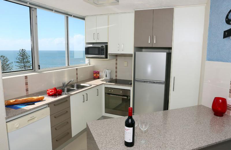 Guest kitchen at Mandolin Resort.