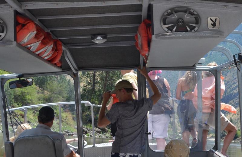 Boat tour at China Bar Lodge.