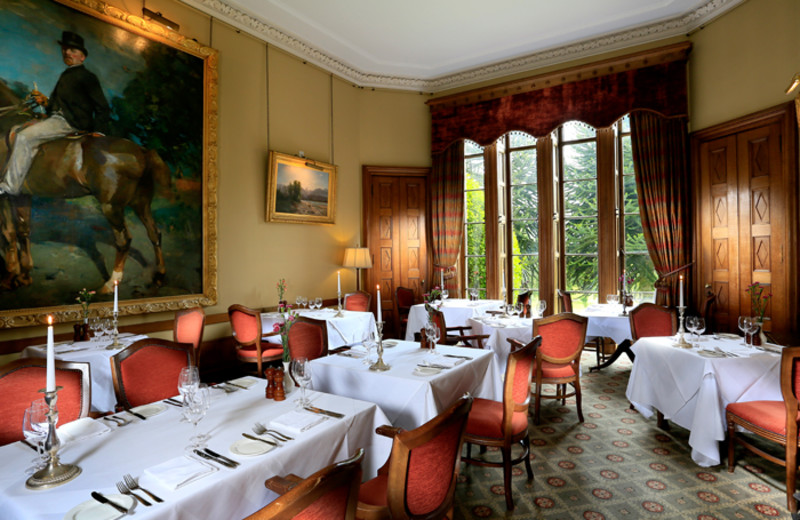 Dining at Pittodrie House Hotel.