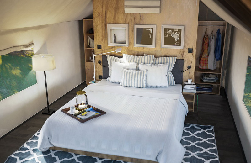 Guest bedroom at Glamping Olimia Adria Village.