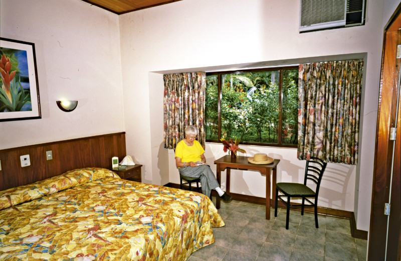 Guest room at Ceiba Tops Lodge Resort.