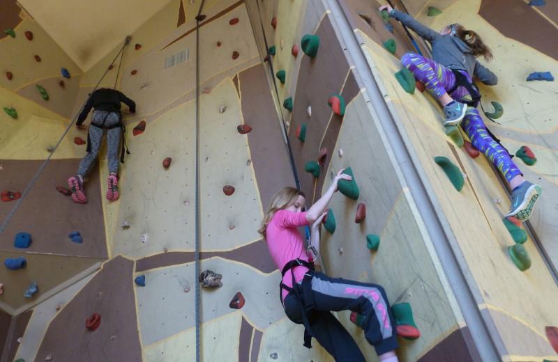 Rock climbing near Spicer Green Lake Resort.