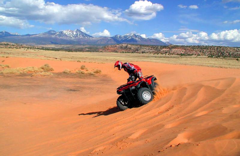 ATV riding near Big Horn Lodge.
