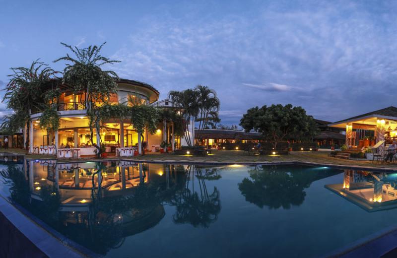 Outdoor pool at Nepal Shangri-La Village Luxury Resort.
