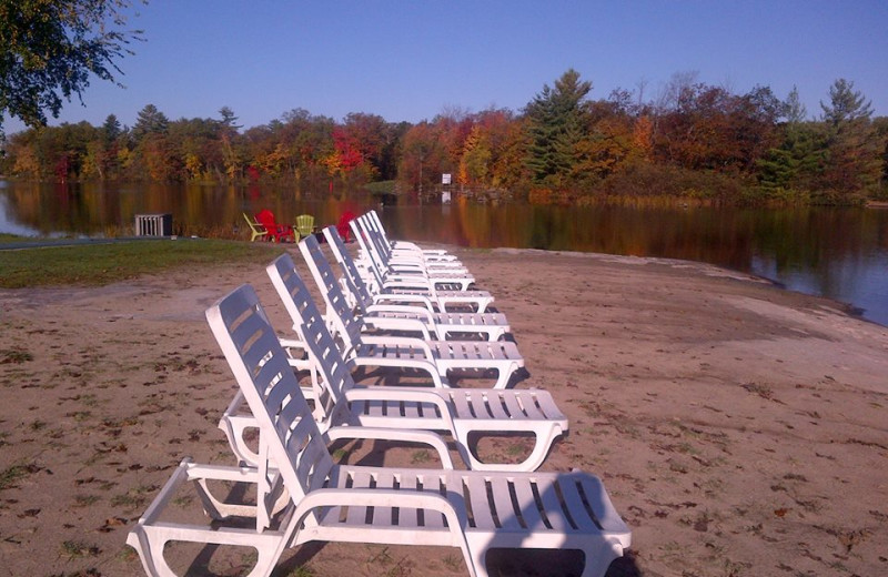 Lounging by the lake at Christie's Mill Inn
