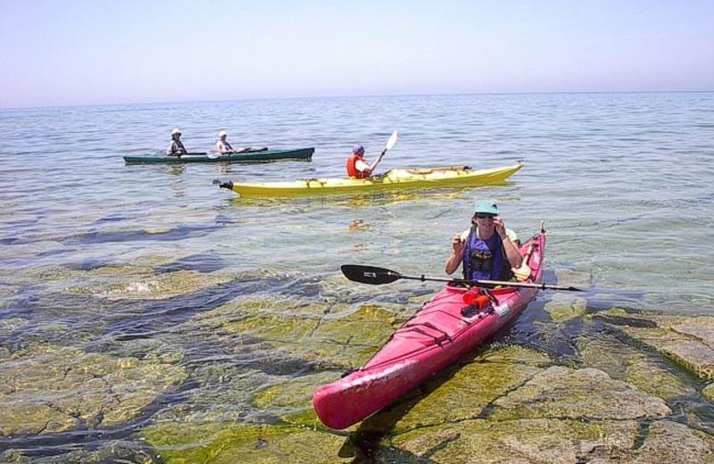 Kayaking at the Red Bay Lodge