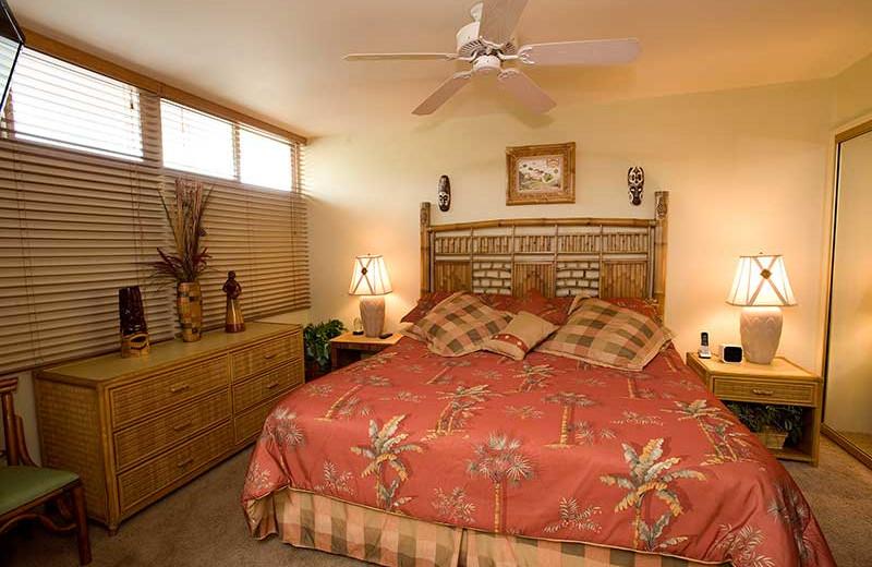 Vacation rental bedroom at Hale Kai O Kihei.