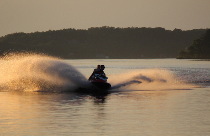 Jet skiing at Big Sandy Lodge & Resort.