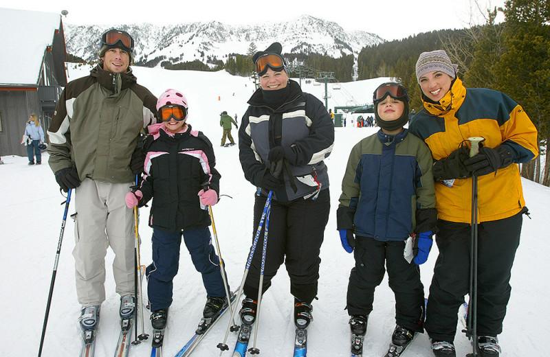 Skiing at Bridger Vista Lodge.