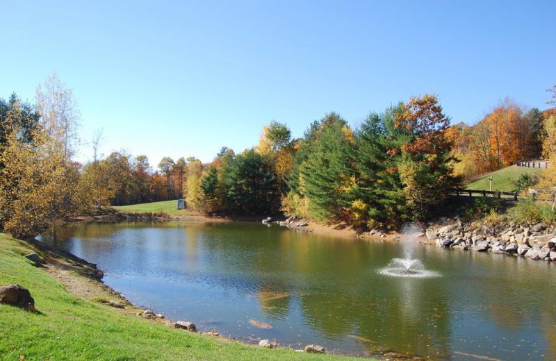 Fishing pond at Steele Hill Resorts.
