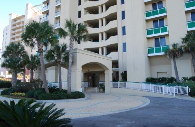 Exterior view of Beach Colony Resort.