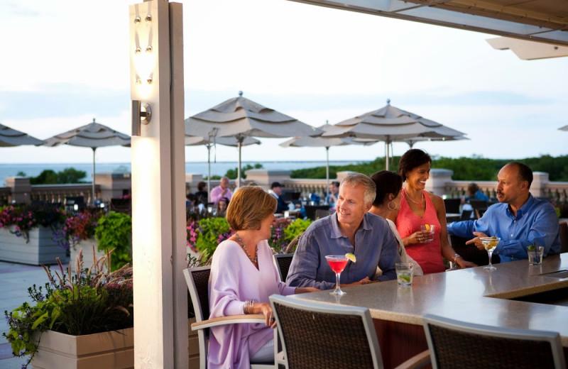 Patio dining at Ocean Edge Resort & Golf Club.