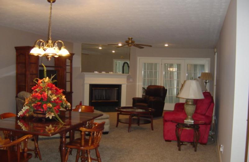 Condo interior at Big Bear Resort.