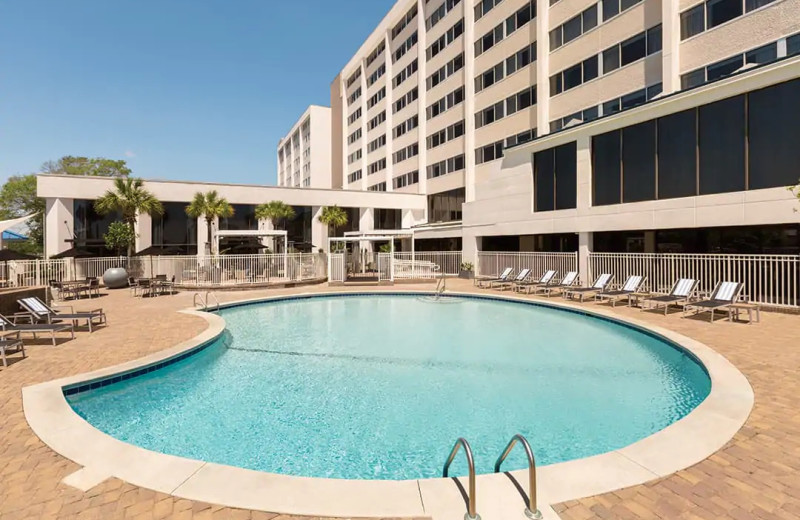 Outdoor pool at Hilton Wilmington Riverside.