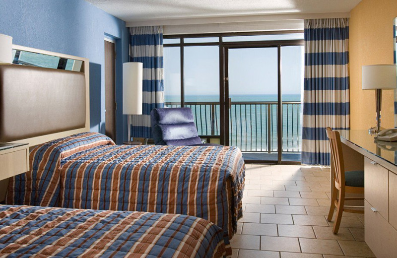 Guest room at Hotel Blue.