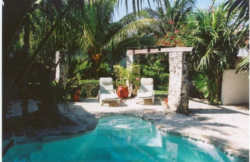 Outdoor pool at Casa Caribe.
