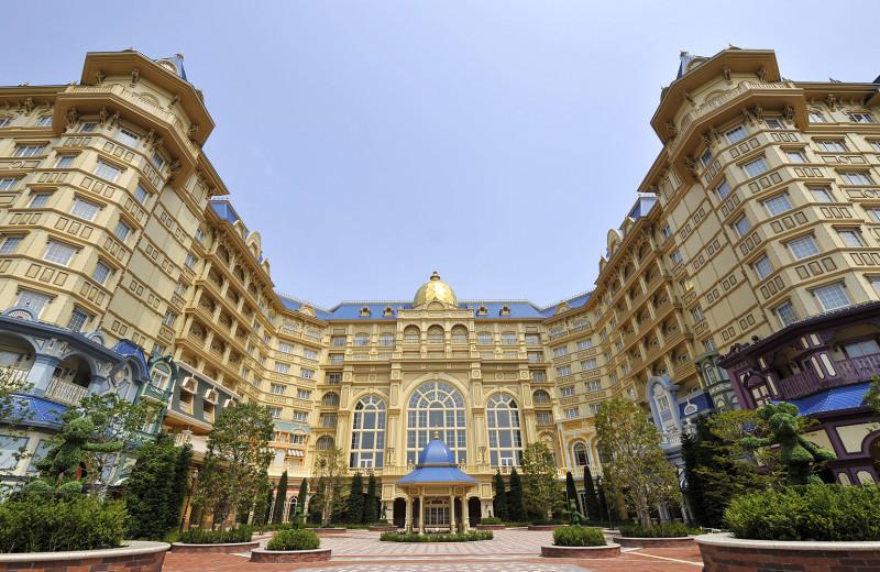 Exterior view of Tokyo Disneyland Hotel.