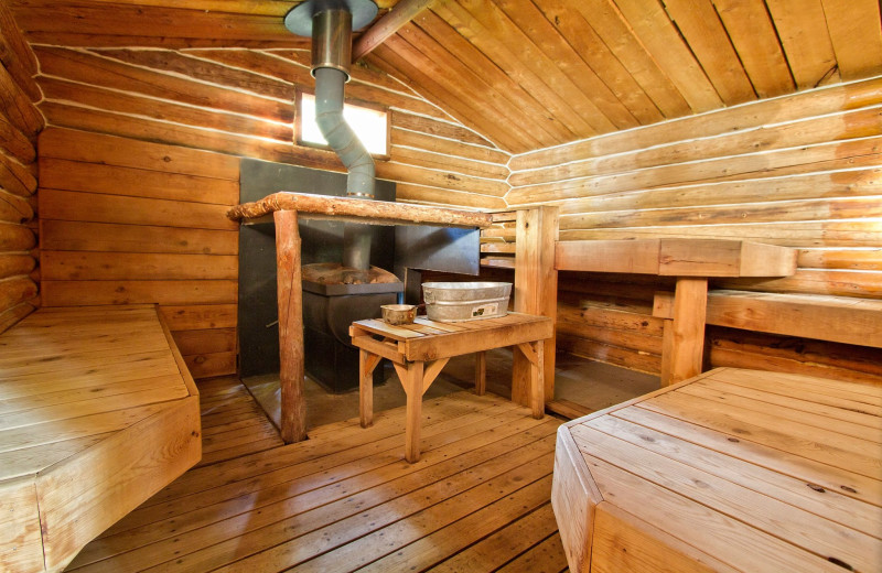 Sauna at Kenai Backcountry Lodge.