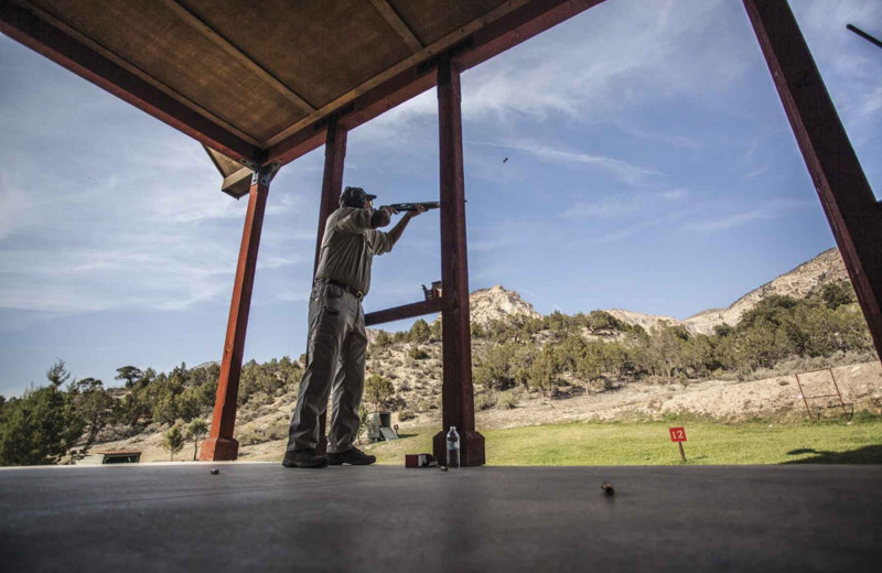 Target practice at Branded Rock Canyon.