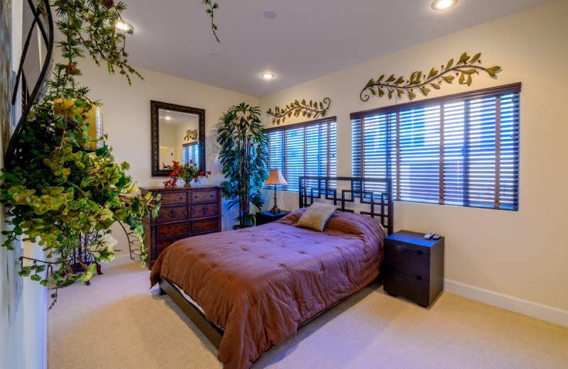Rental bedroom at Family Time Vacation Rentals.