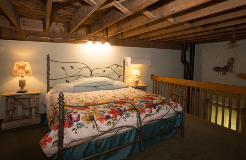 Garden Loft Suite at Stone Mill Hotel and Suites.