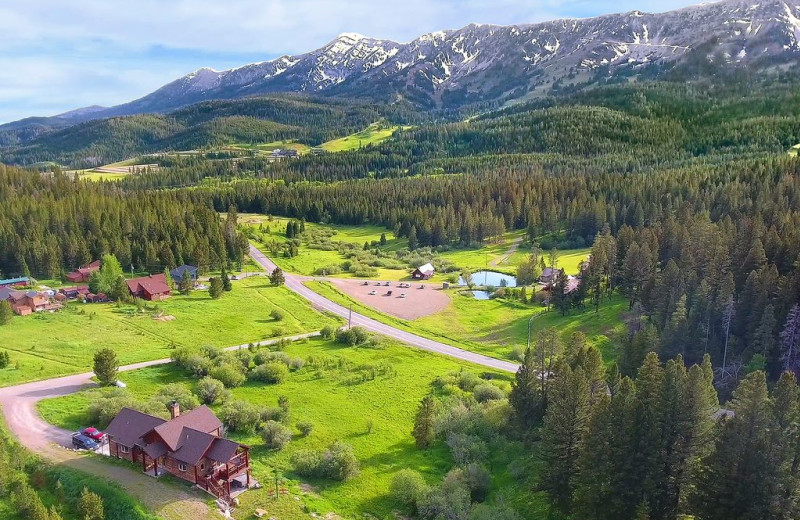Aerial view of Bridger Vista Lodge.