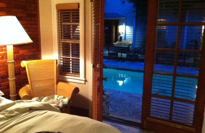 Pool side guest room at The Heron House & Heron House Court.