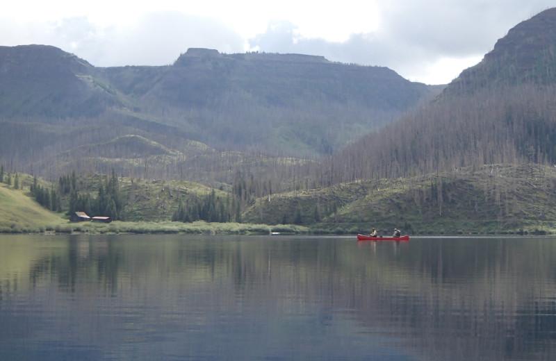 Lake view at Trappers Lake Lodge & Resort.