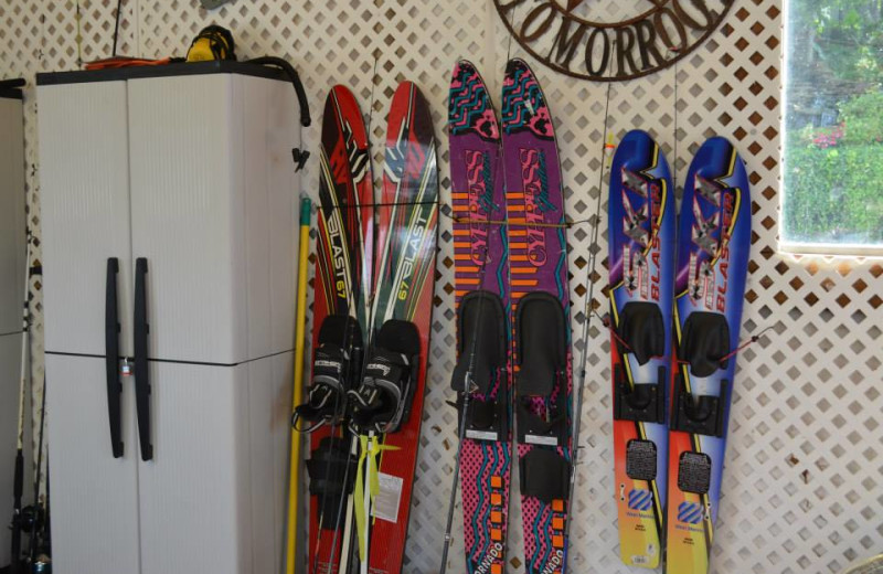 Water ski rentals at Dream Catcher Point Resort.