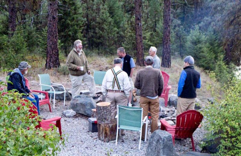 Group at Clark Fork River Lodge.