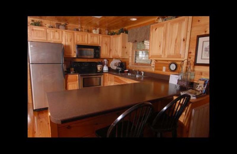 Cabin kitchen at Eden Crest Vacation Rentals, Inc. - Ostentatious Cabin Rental.