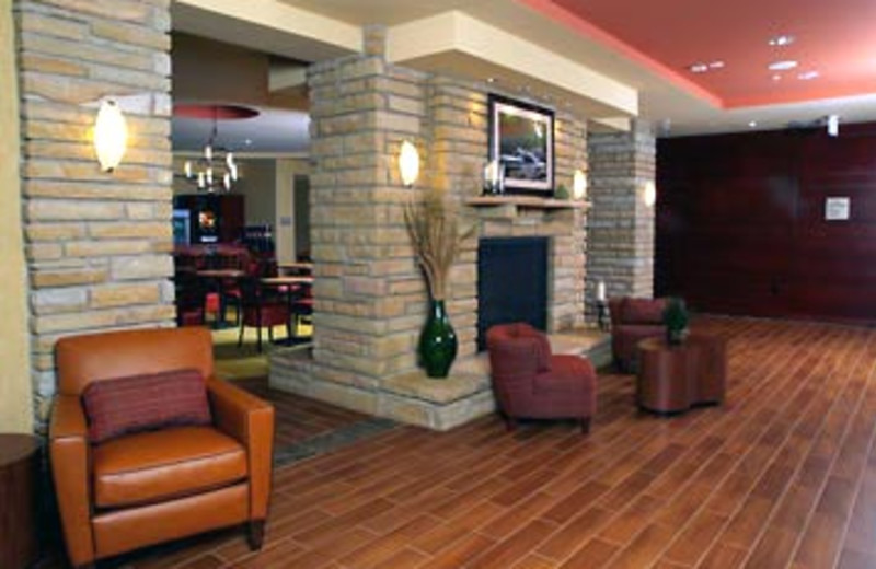 Lobby Fireplace at SpringHill Suites - Pigeon Forge