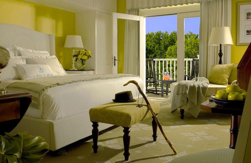 Guest room at Omni Bedford Springs Resort.