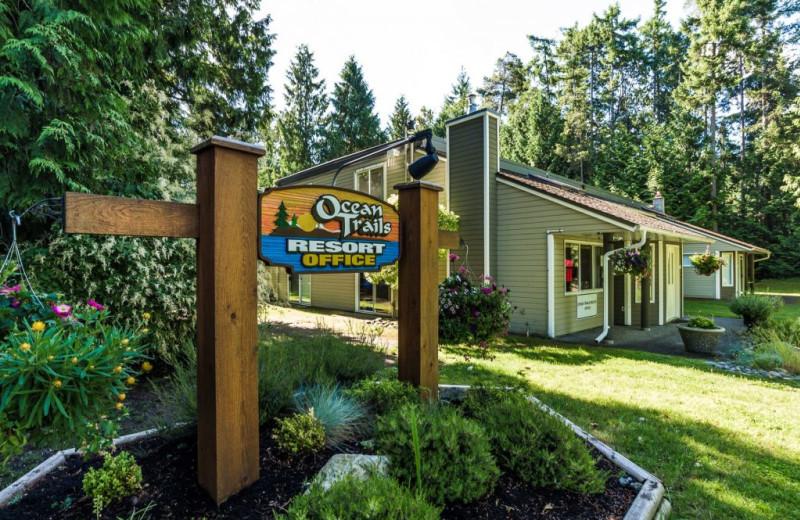 Office exterior at Ocean Trails Resort.