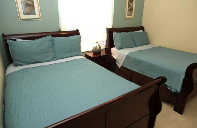 Vacation rental bedroom at Casiola Vacation Homes.