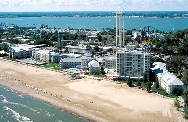 The beach at Cedar Point Resort.